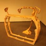 高橋さんの木彫