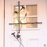 ロートアイアンのドア装飾
