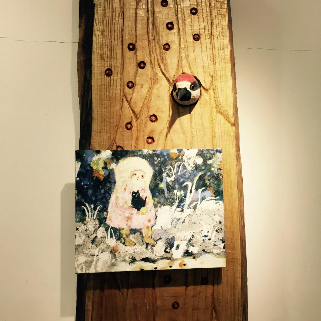 本多絵美子さんと林ゆいかさんの作品