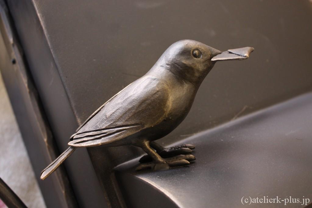 ロートアイアンの文鳥