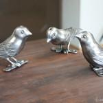 ロートアイアンの小鳥たち
