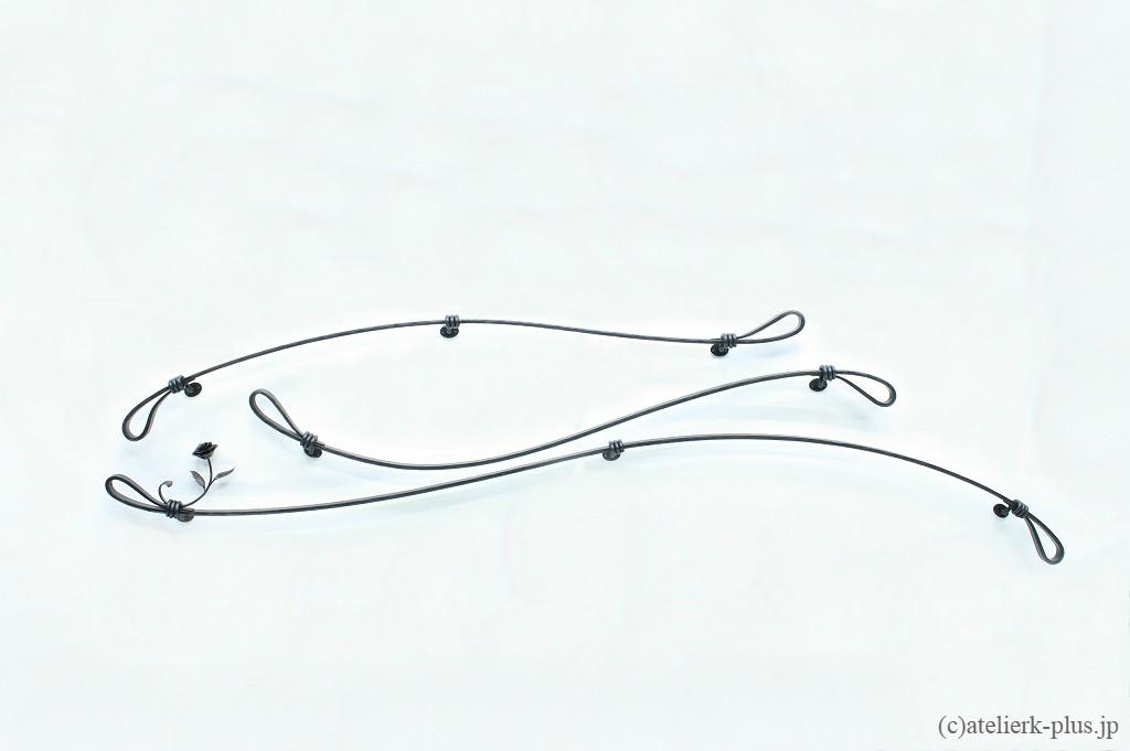 ロートアイアンのブラケット手摺