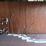 ロートアイアンの門扉とフェンス