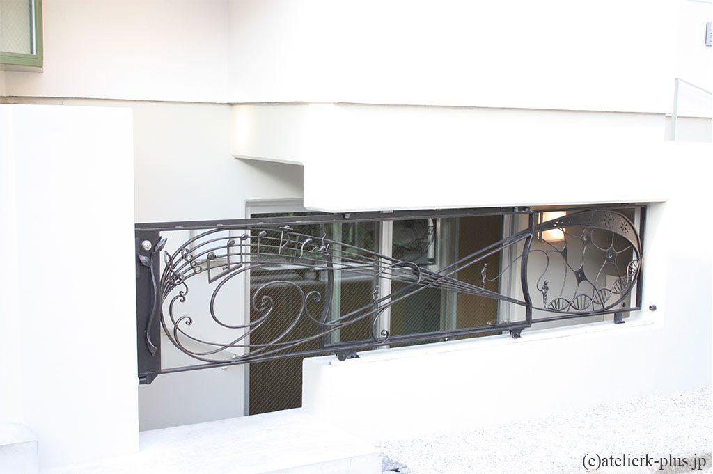 ロートアイアンのスライド門扉
