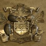 制作中の紋章