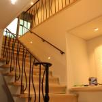 ロートアイアンの階段手摺