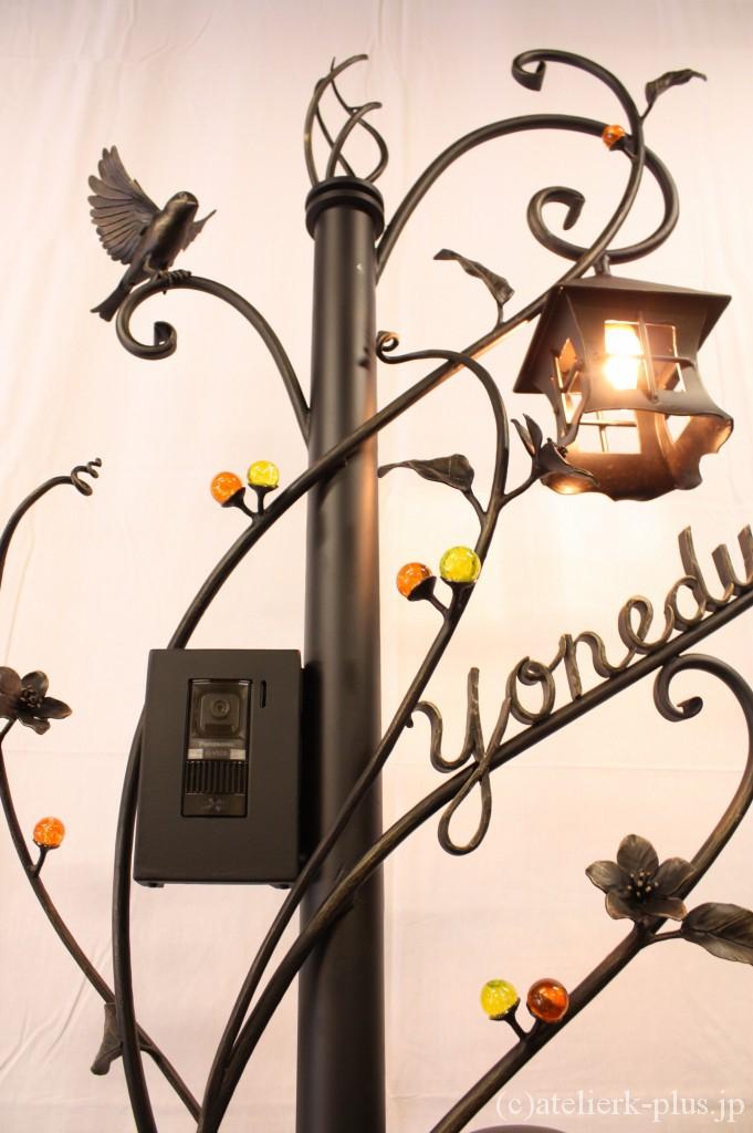 ロートアイアンの照明・表札・インターフォンカバー