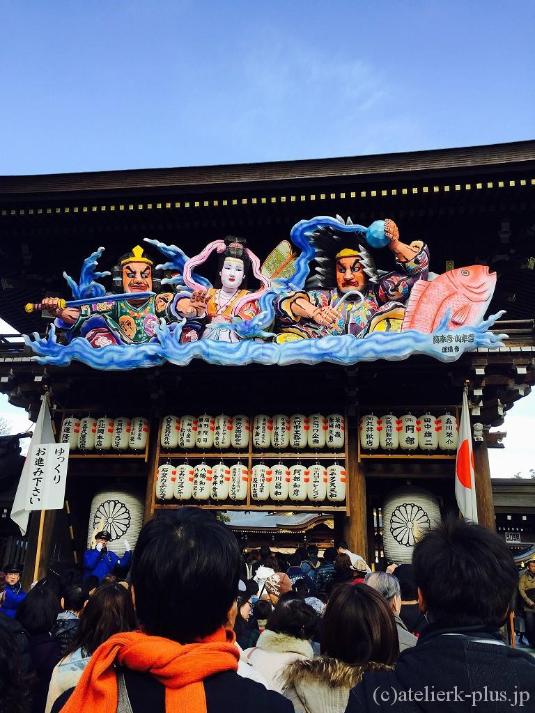 寒川神社のねぶた