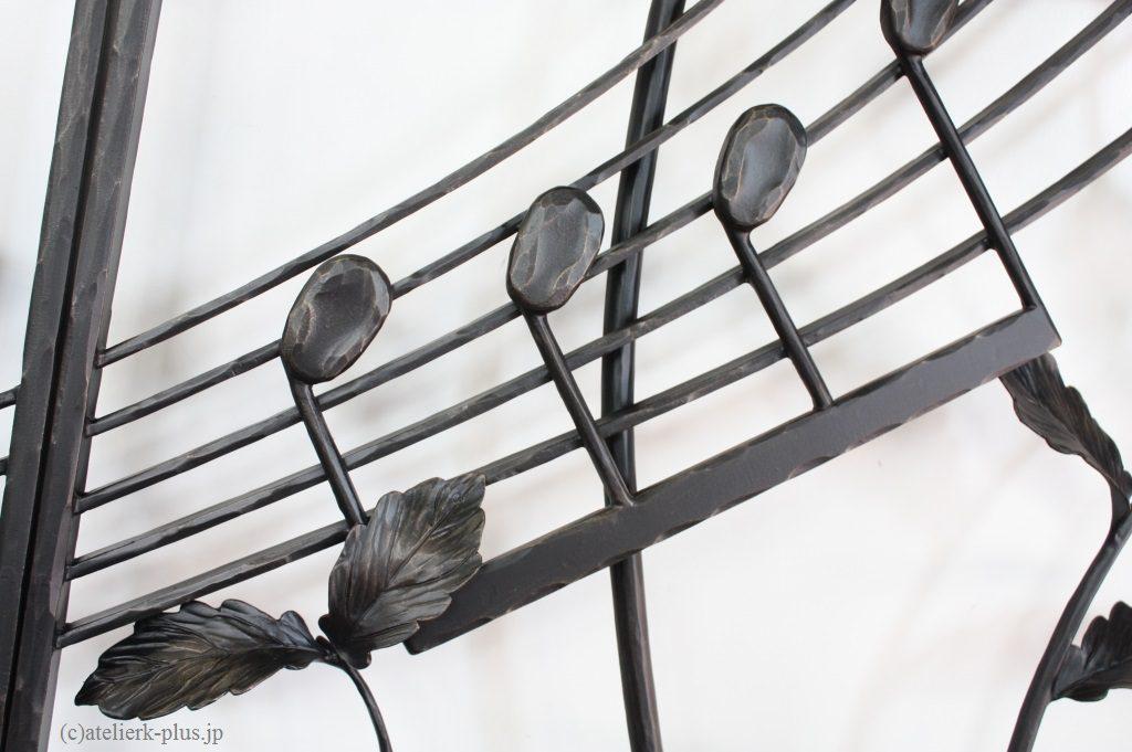 ロートアイアンの音符