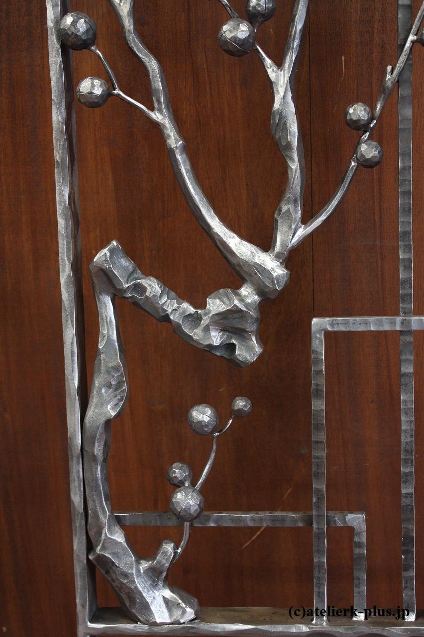 ロートアイアンの表札装飾
